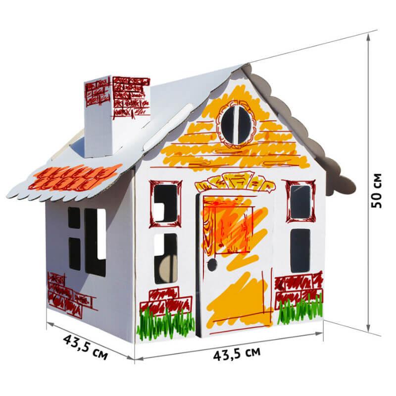 """Картонный домик-раскраска """"Домик в деревне"""" - купить в ..."""